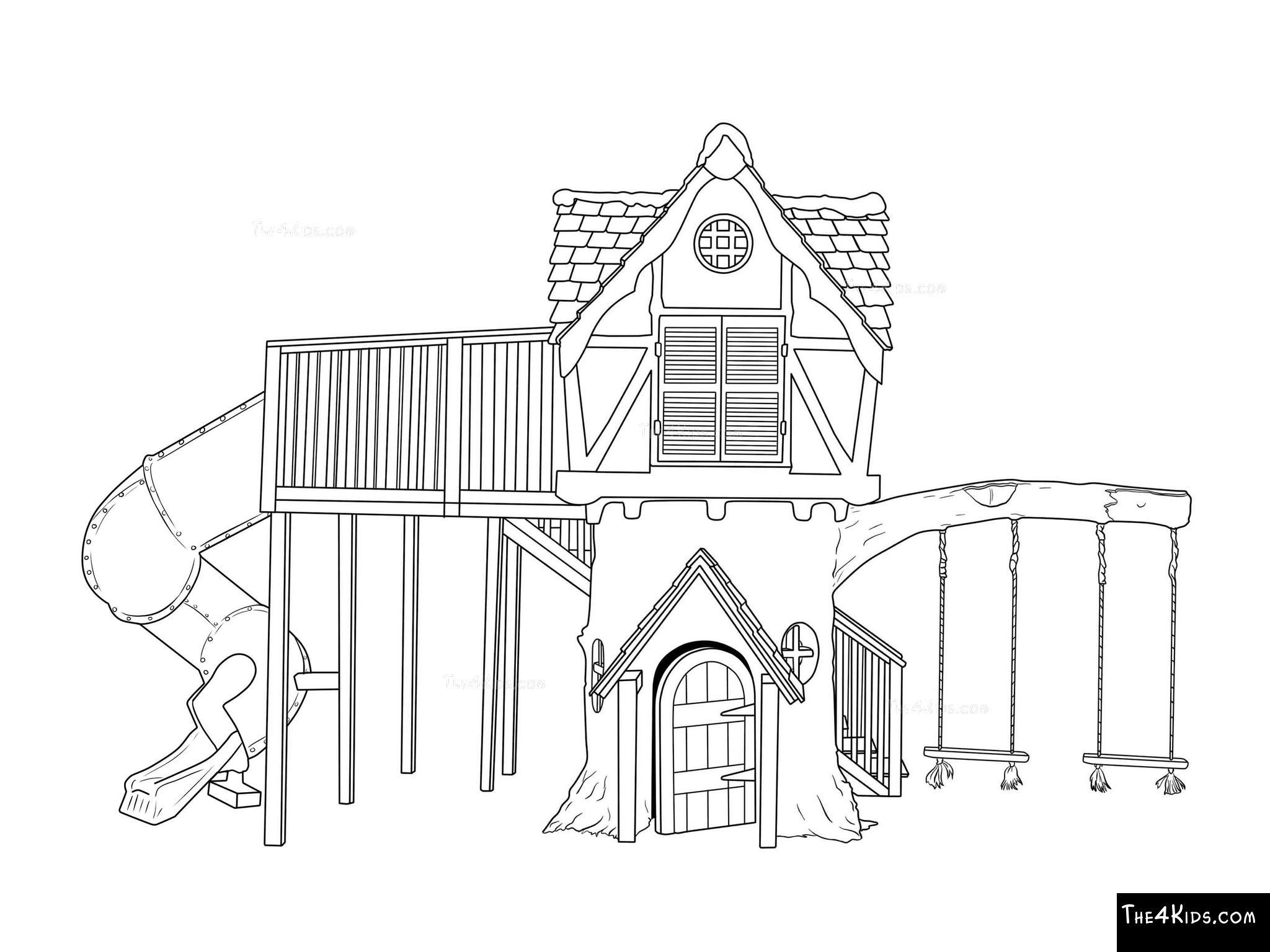 Tudor Tree House The 4 Kids