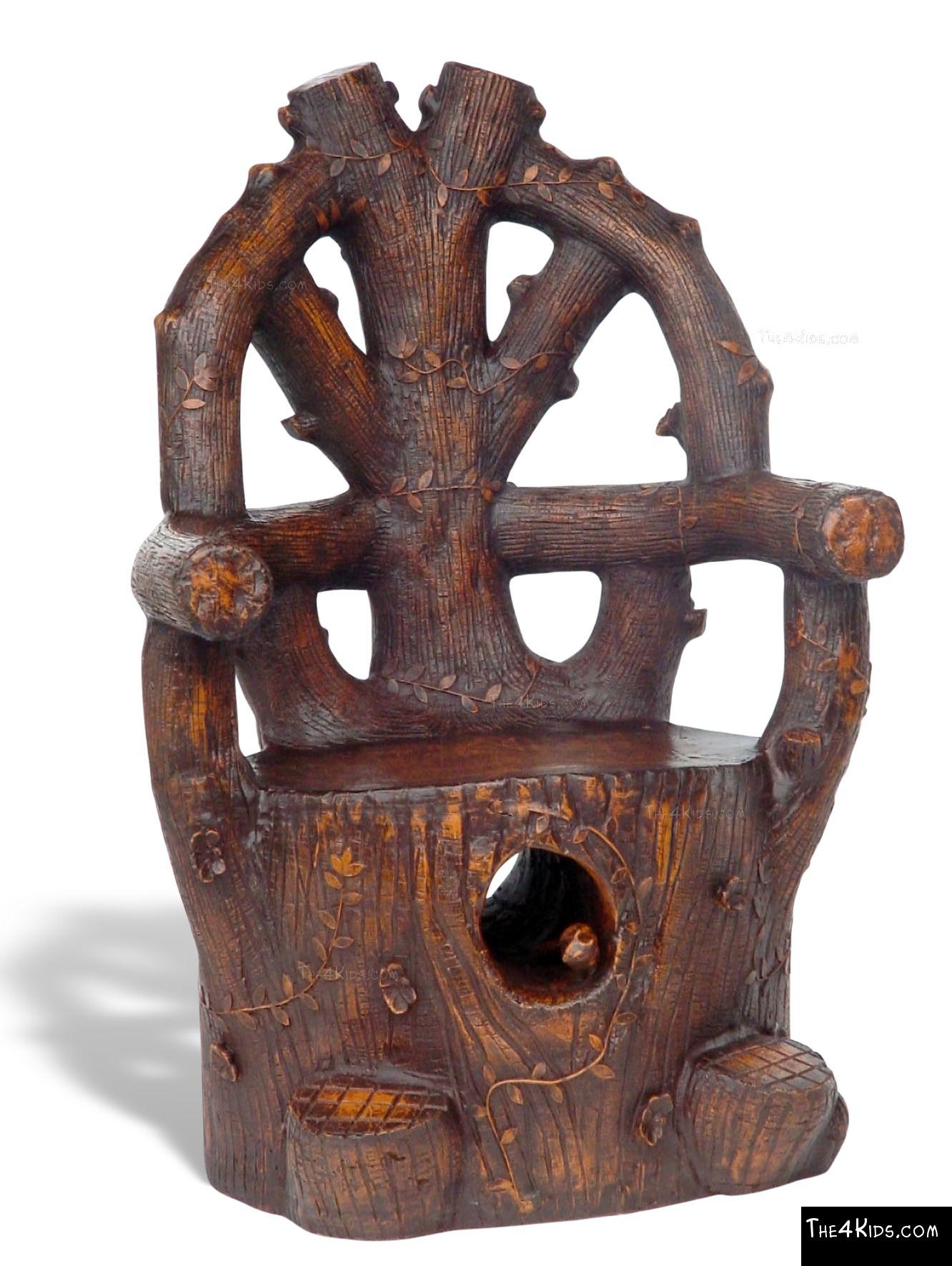 Rustic Log Chair - The 4 Kids