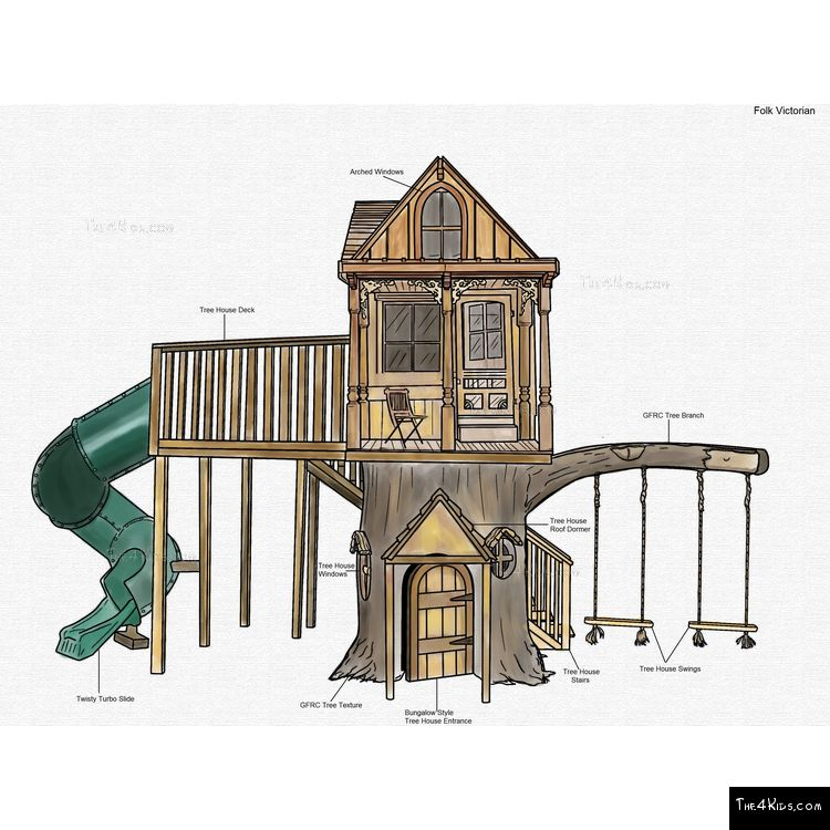 Image of Folk Victorian Tree House