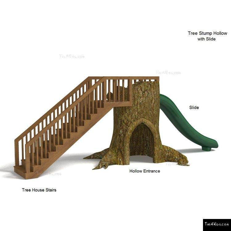 Image of Tree Stump Hollow with Slide