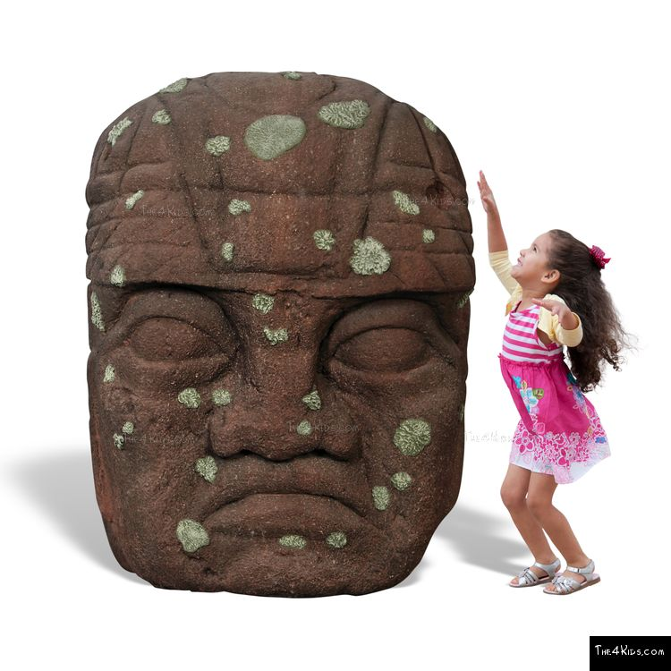 Image of 4ft Olmec Head Climber