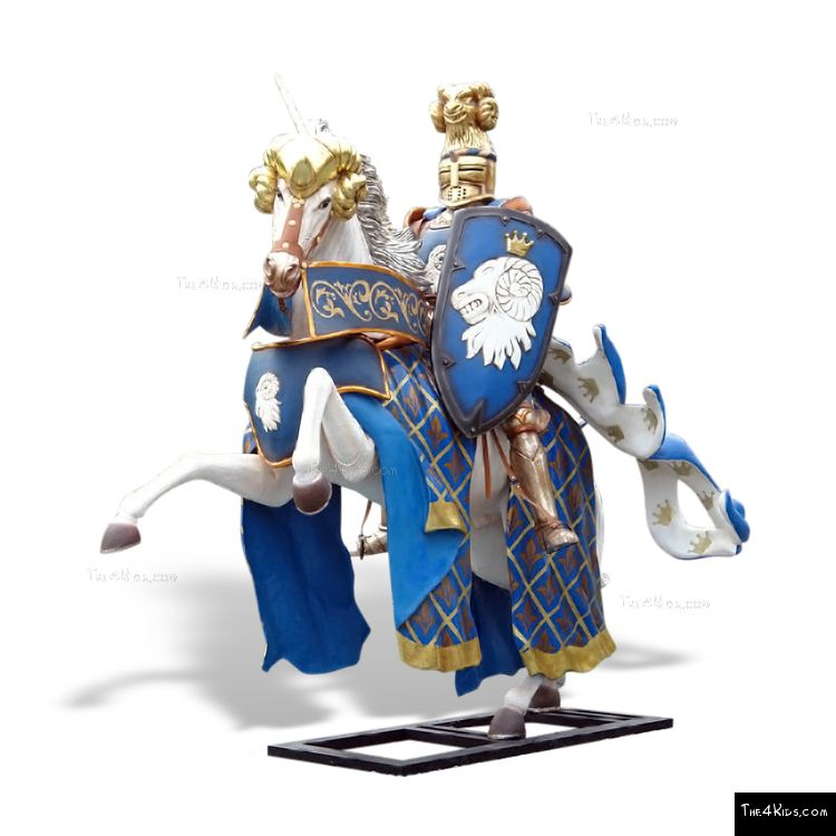 Image of Blue Knight Sculpture