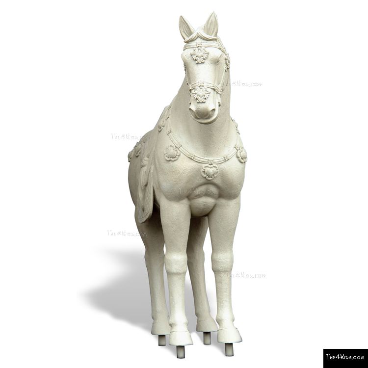 Image of Alabaster Horse Sculpture