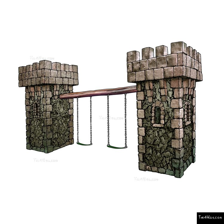Image of Medieval Tower Swing Set