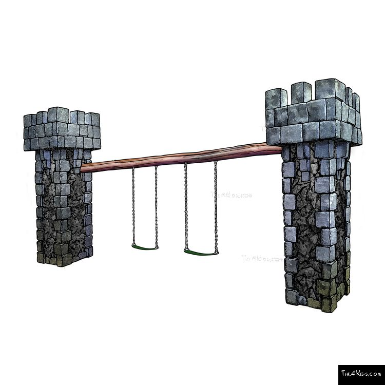 Image of Castle Swing Set