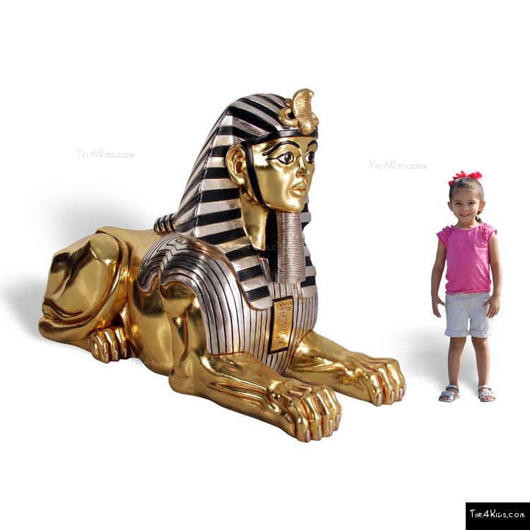 Image of Golden Sphinx Sculpture