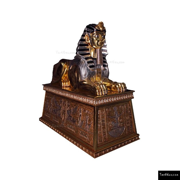 Image of Gold Silver Jumbo Sphinx on Base