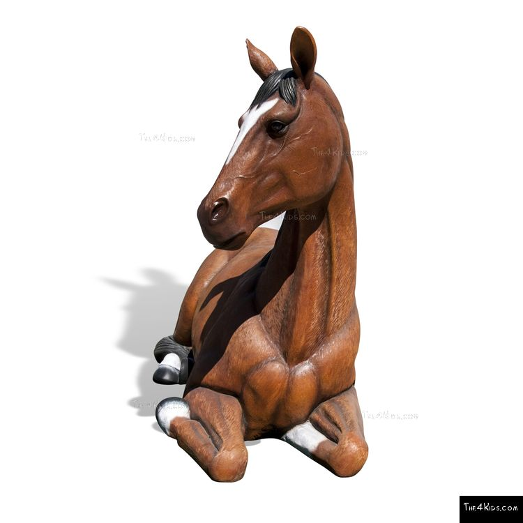 Image of Resting Horse Play Sculpture