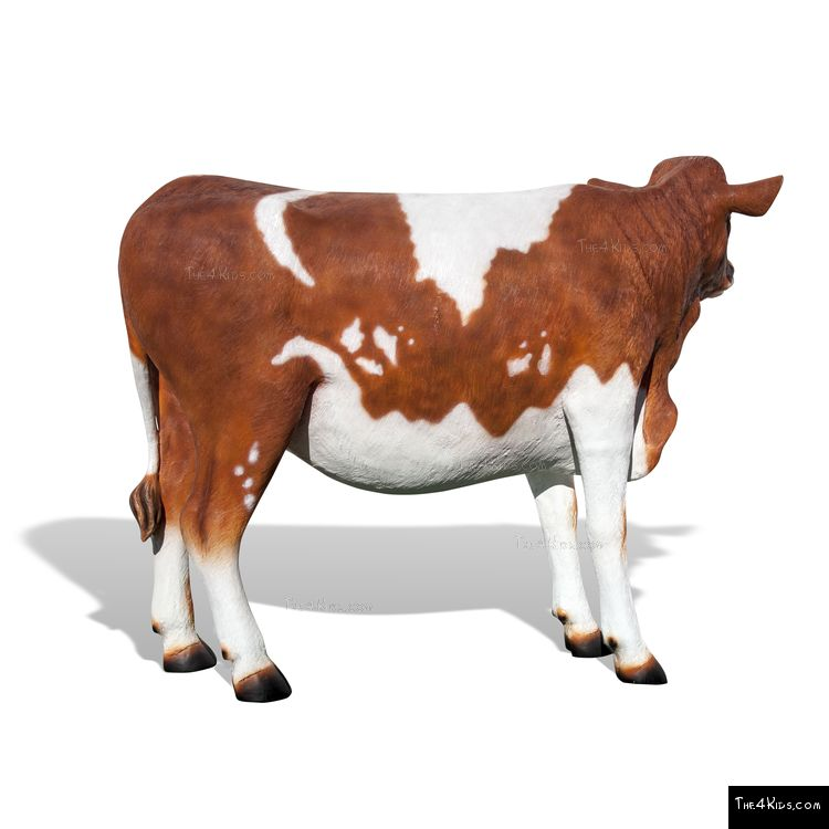 Image of Guernsey Cow Play Sculpture