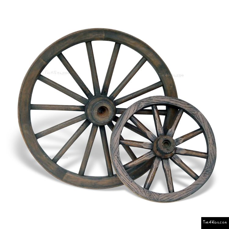 Image of Wagon Wheel Sculpture