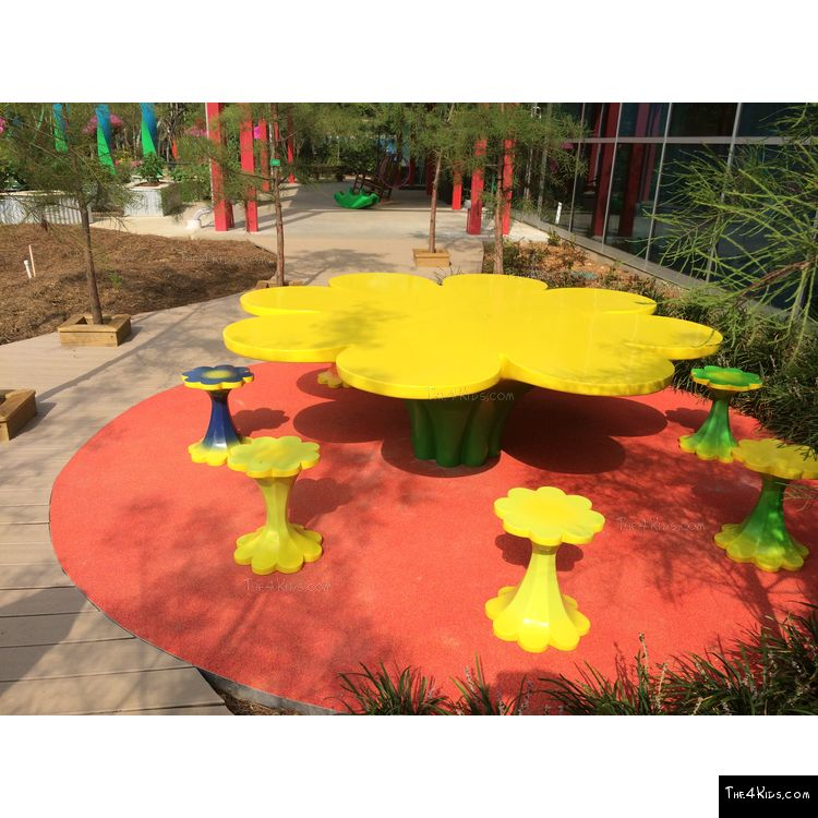 Image of Flower Table and Stools