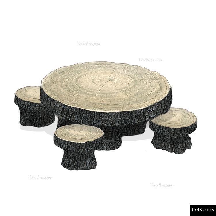 Image of Woodland Table and Stool Set