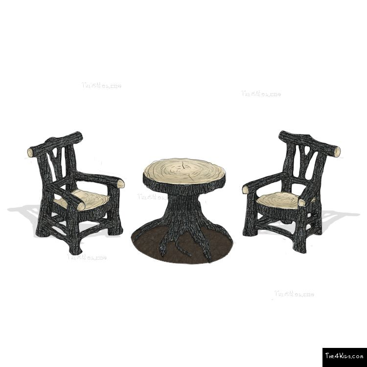 Image of Woodland Table and Chair set