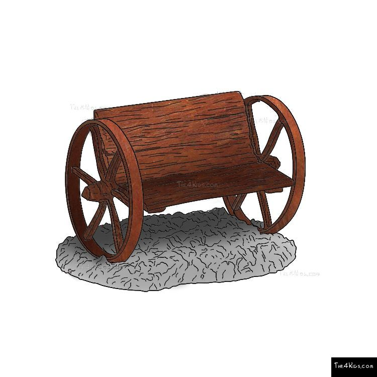Image of Wagon Wheel Bench