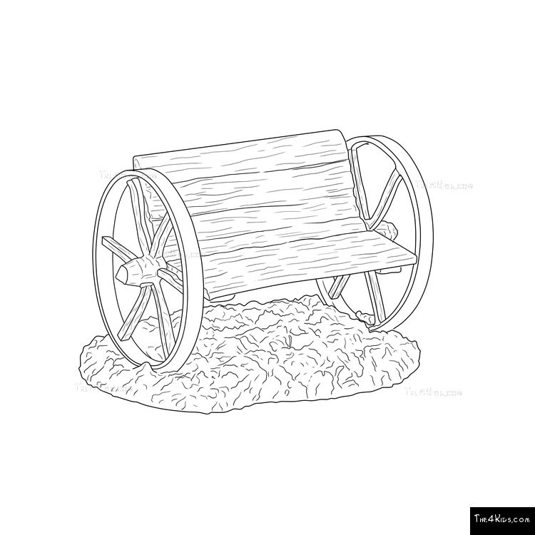 Image of Wagon Wheel Bench