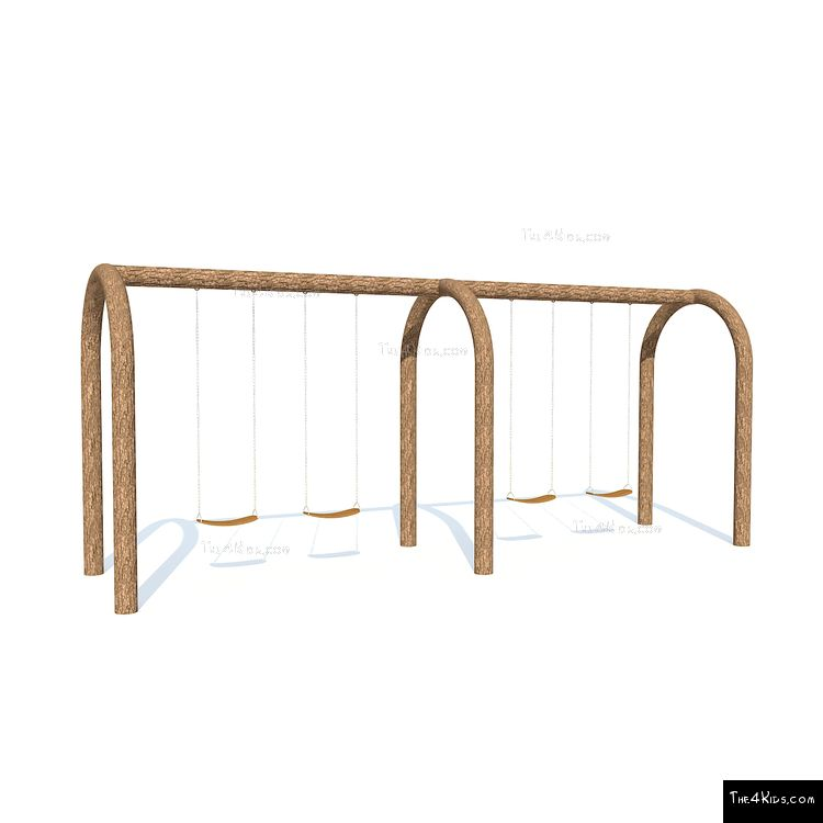Image of Arched Double Bay Swings