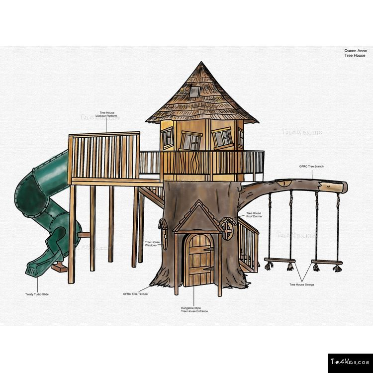 Image of Queen Anne Tree House
