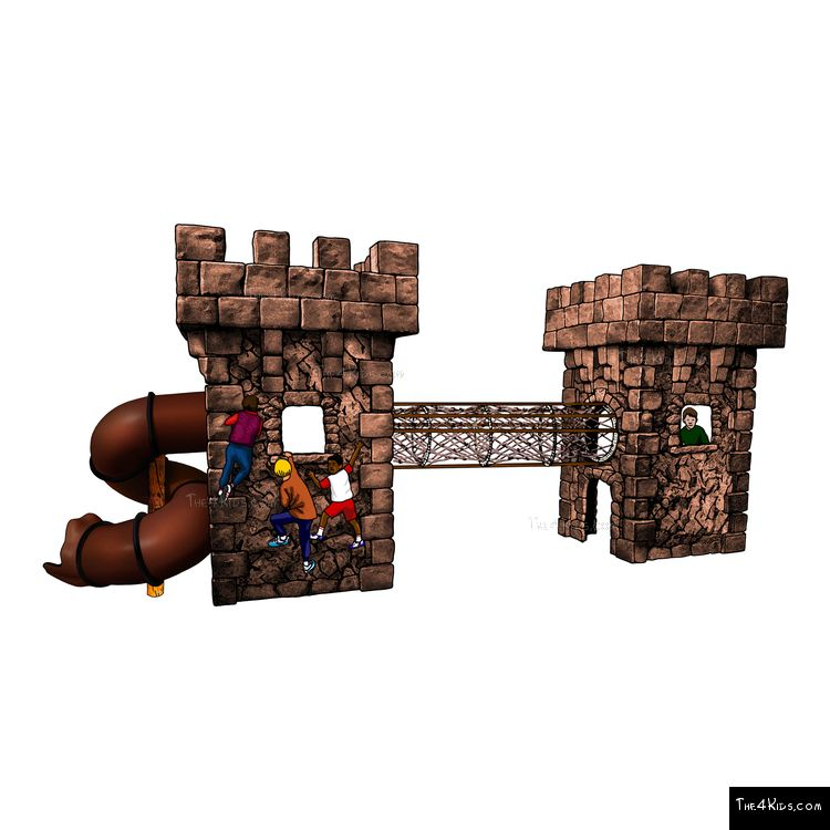 Image of Medieval Towers with Net