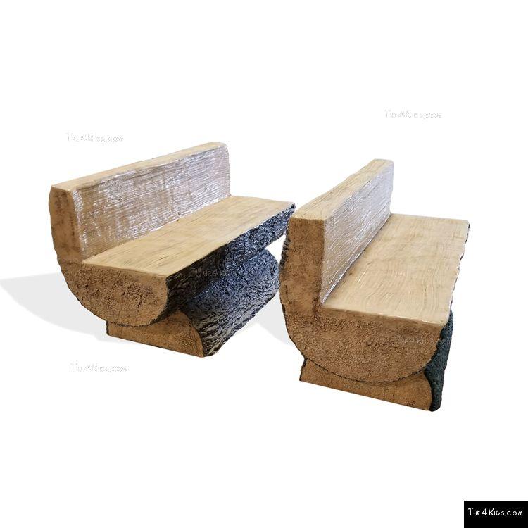 Image of Log Bench w/Back