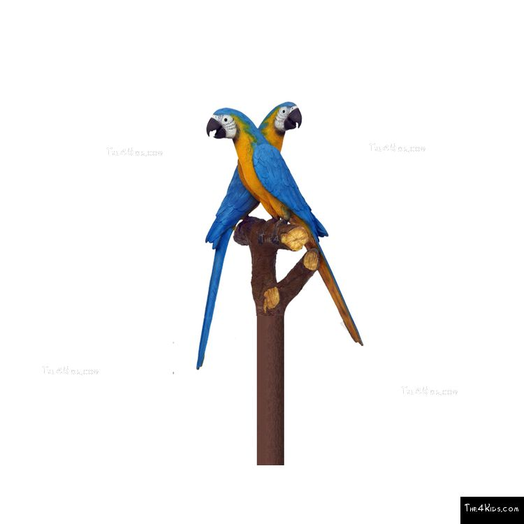 Image of Blue Gold Macaw Pair Post Topper