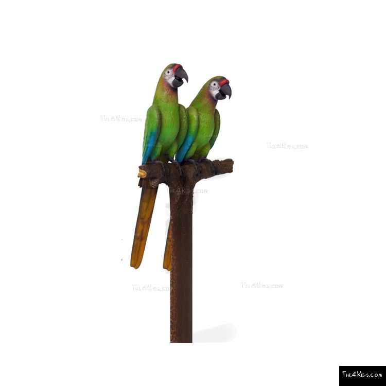 Image of Buffon Macaw Pair Post Topper