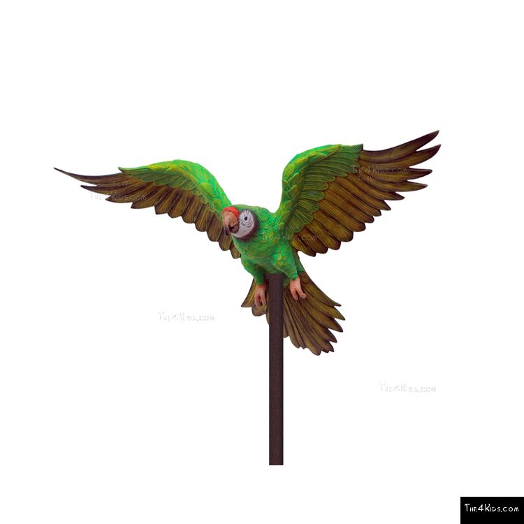 Image of Green Parrot Post Topper