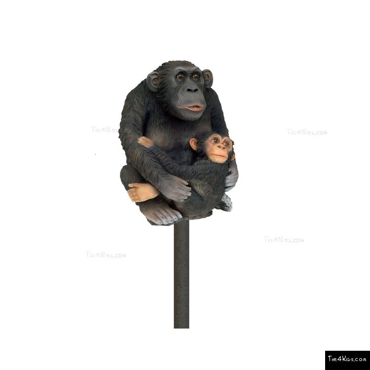 Image of Monkey With Baby Post Topper
