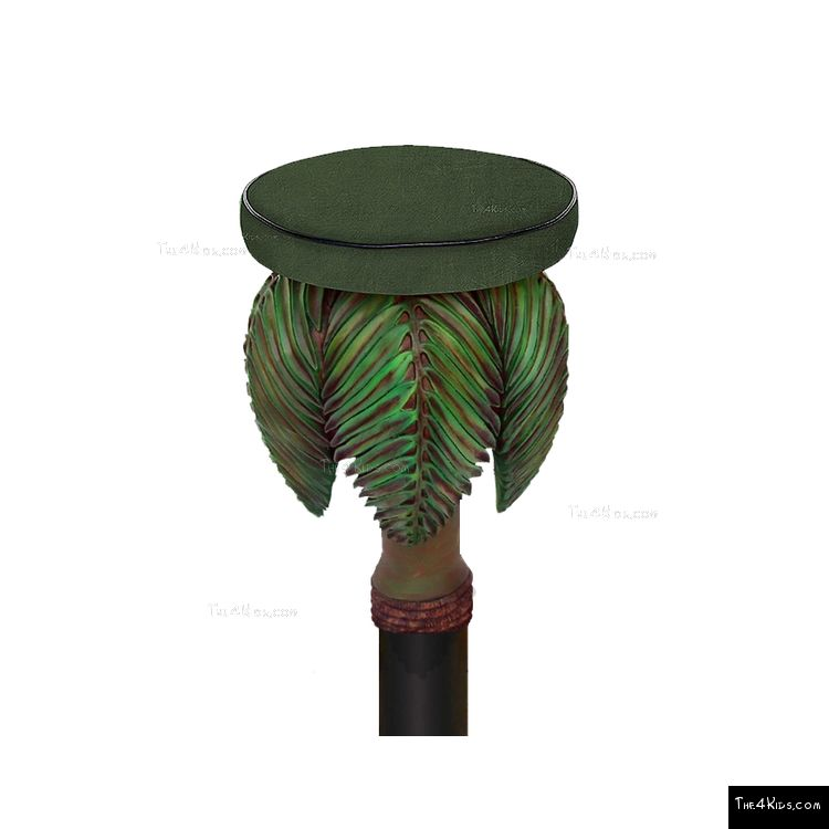 Image of Palm Tree Stool Post Topper