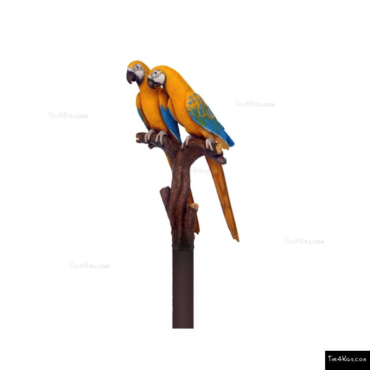 Image of Parrot Pair Post Topper