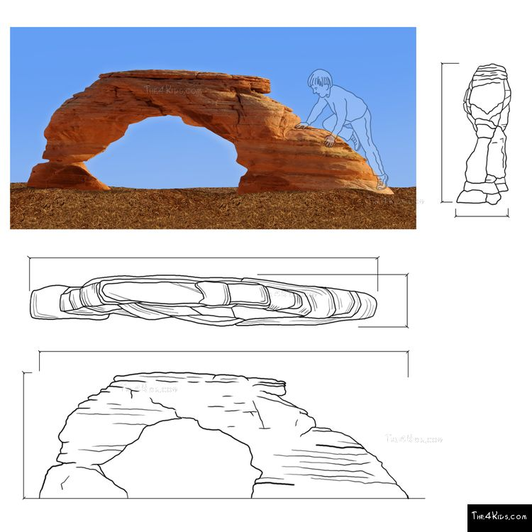 Image of Arches Rock Climber
