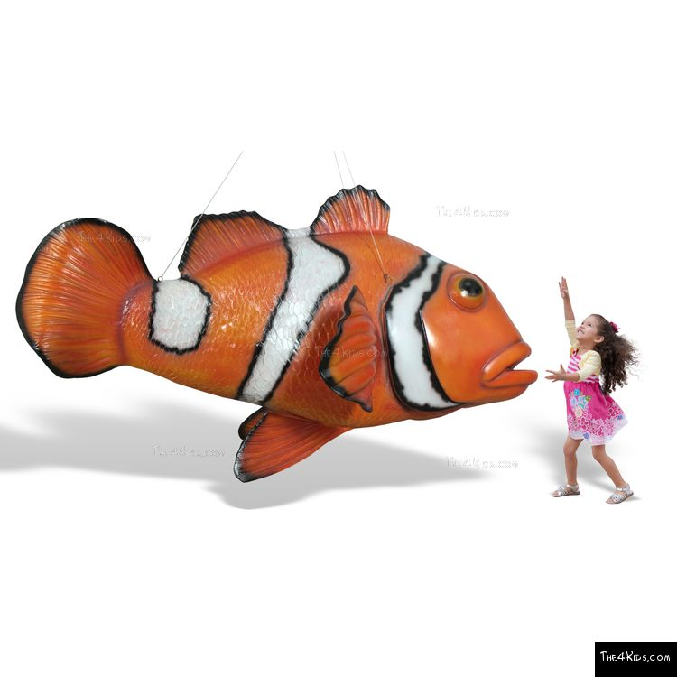 Image of Hanging Clown Fish Sculpture