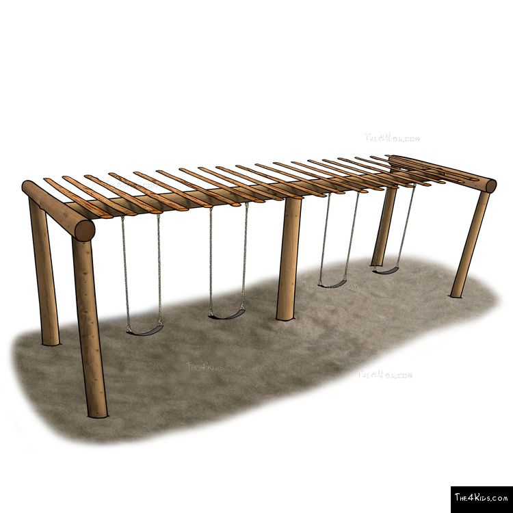 Image of Large Pergola Swing Set