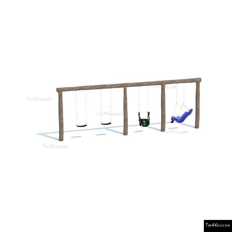 Image of Triple Bay 4 Swing Set