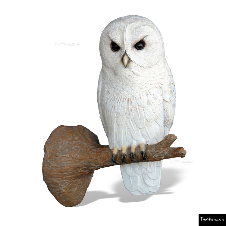 Image of Perched Owl Sculpture