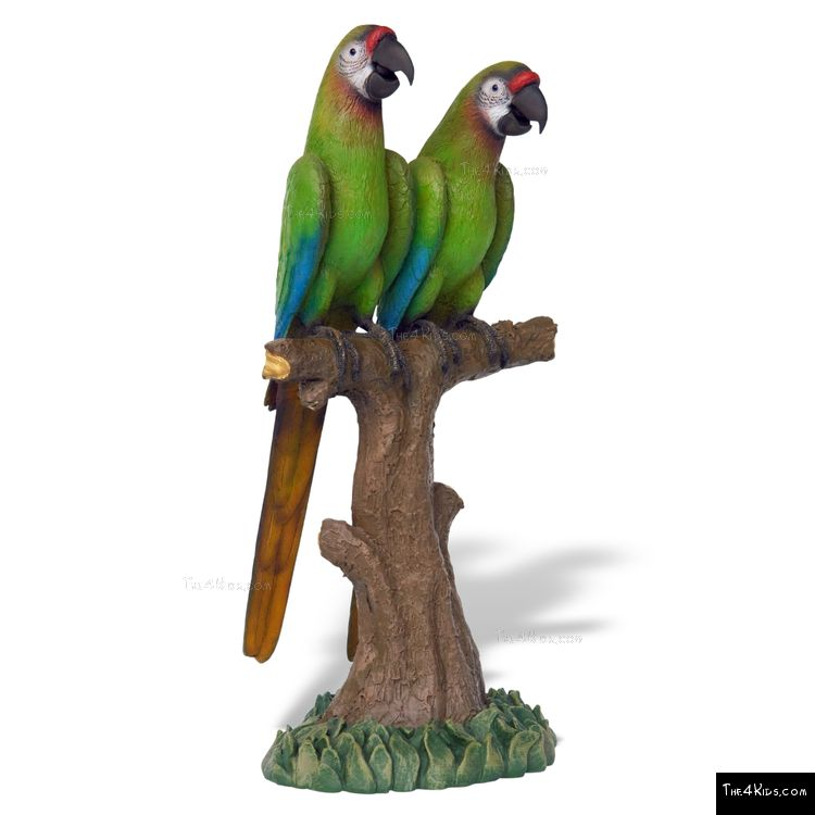 Image of Buffon Macaw Pair Sculpture
