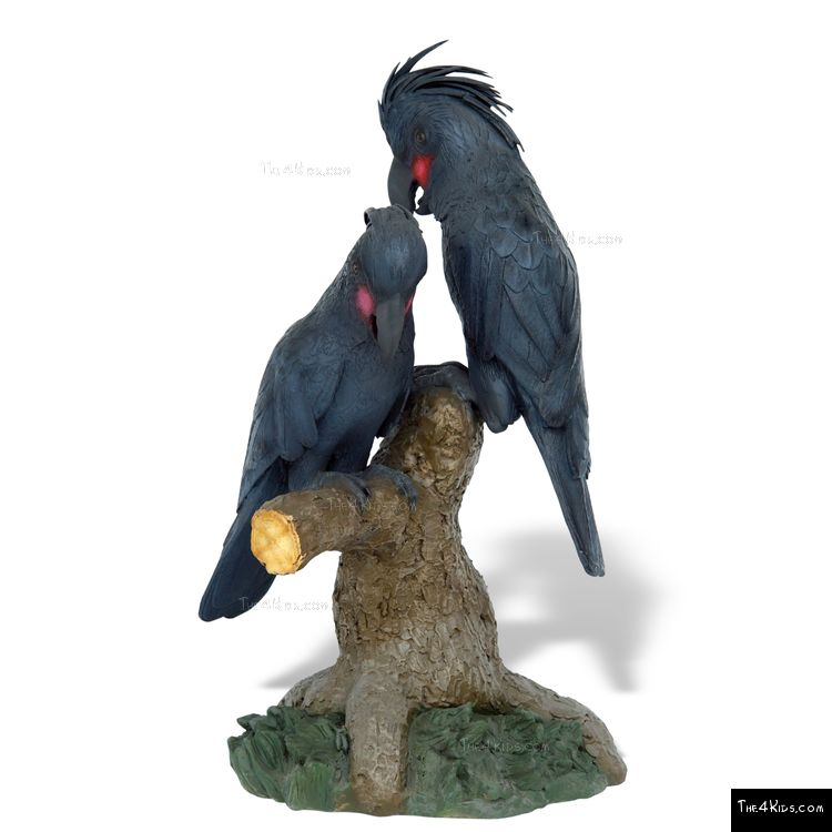 Image of Black Palm Cockatoo Pair Sculpture