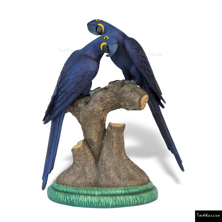 Image of Hyacinth Macaw Pair Sculpture
