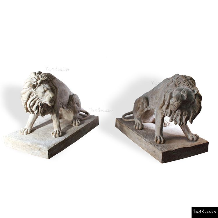 Image of Lion Duo Park Sculptures