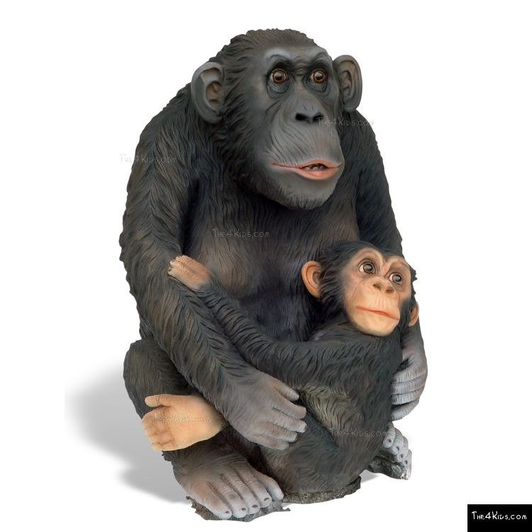 Image of Large Monkey with Baby