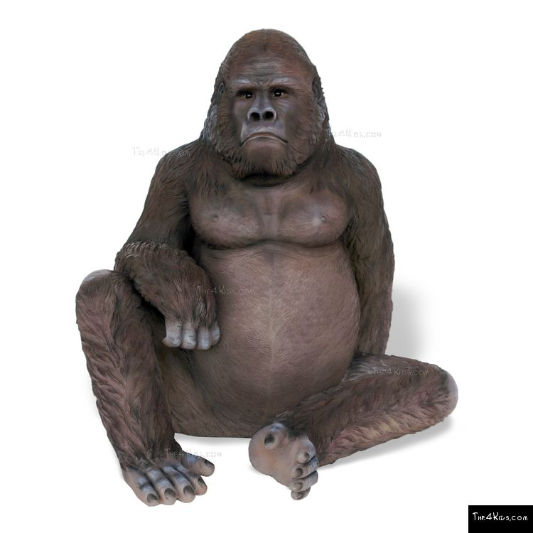 Image of Sitting Gorilla Sculpture