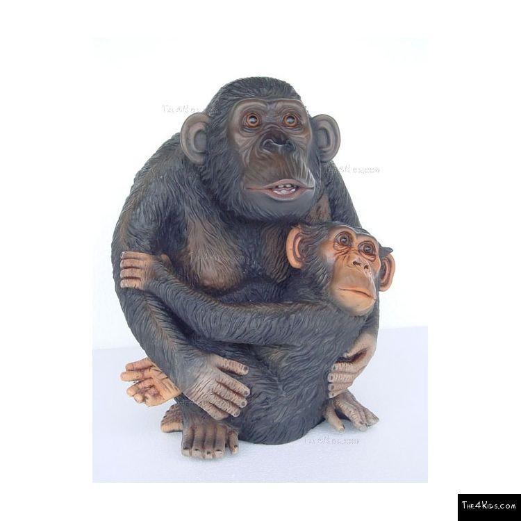 Image of Mom with Baby Monkey