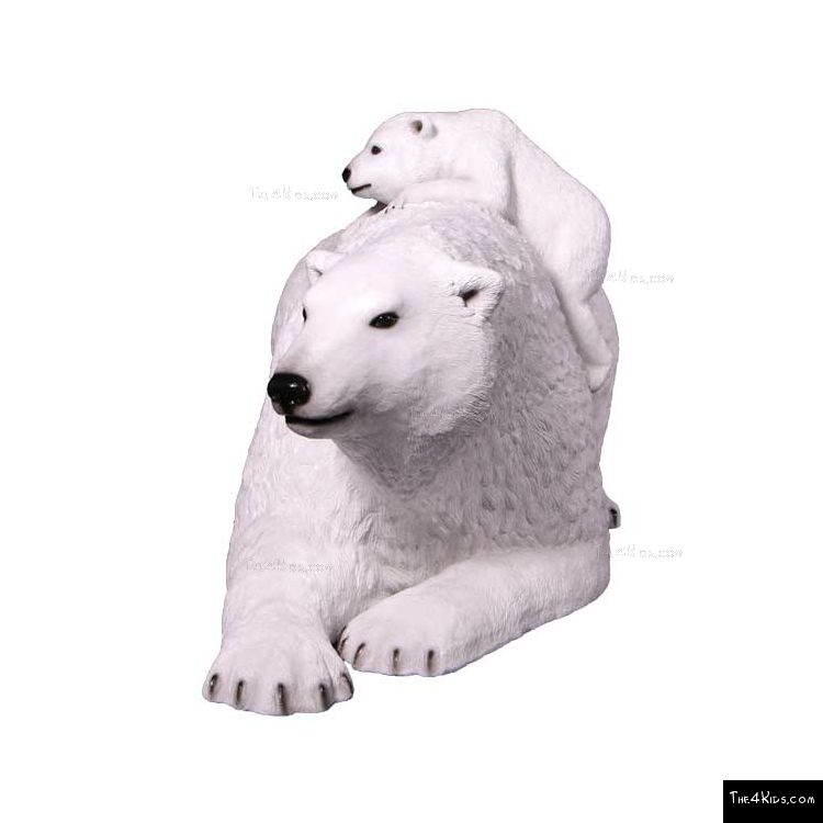 Image of Polar Bear Mother and Cub