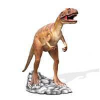 Thumbnail of Hunting Allosaurus Brown