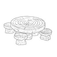 Thumbnail of Woodland Table and Stool Set
