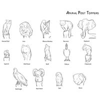 Thumbnail of Animal Post Toppers