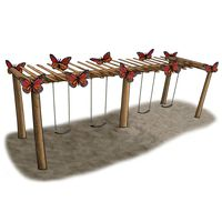 Large Butterfly Pergola Swing Set