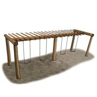 Large Pergola Swing Set