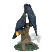 Thumbnail for Black Palm Cockatoo Pair Sculpture