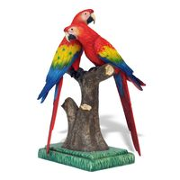 Thumbnail for Scarlet Macaw Pair Sculpture