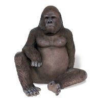 Thumbnail for Sitting Gorilla Sculpture